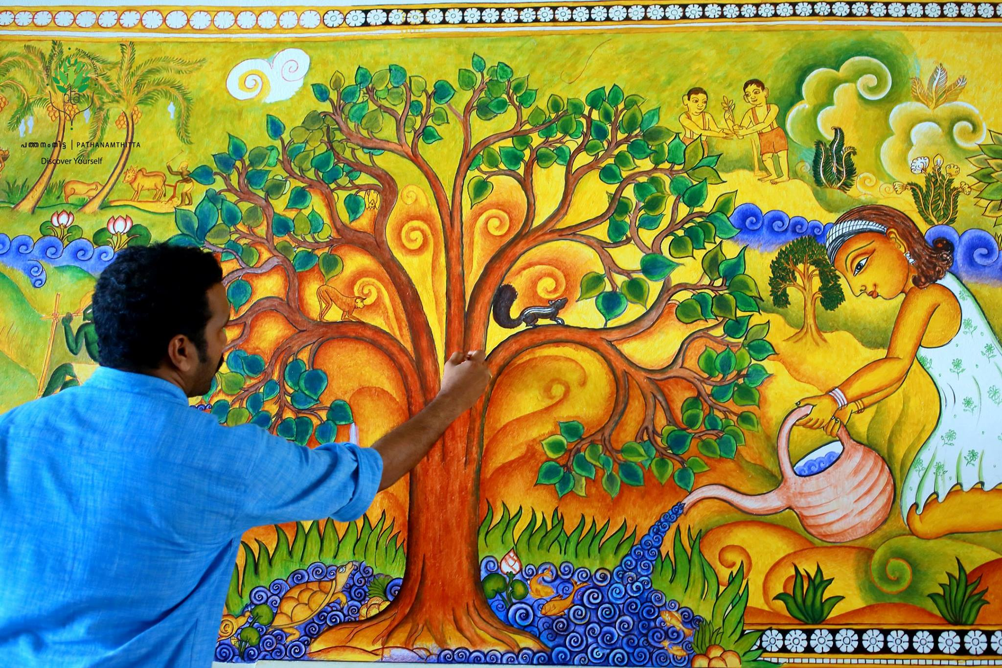Welcome to district tourism promotion council for Mural painting images